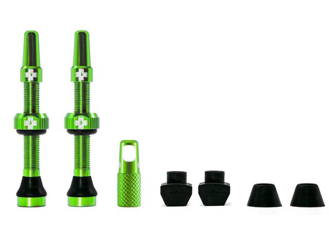 Muc-Off MTB & Road Tubeless Valve Kit 60mm, green